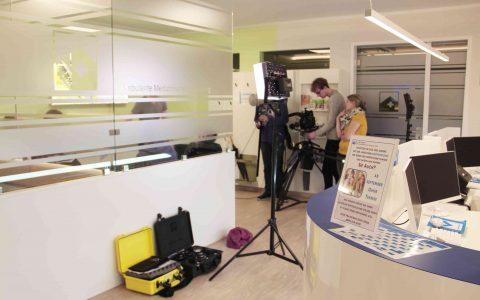 Filmdreh in unseren Praxisräumen in der Mainzer Straße