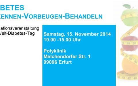 Welt-Diabetes-Tag • Samstag, 15. November 2014 • Standort Polyklinik