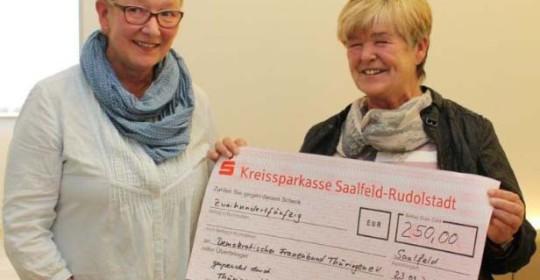 Spendenaktion für Demokratischen Frauenbund Rudolstadt erfolgreich