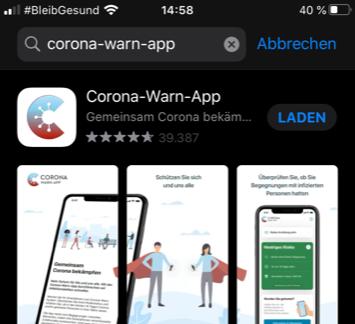 Test nach Risikobenachrichtigung von Corona-Warn-App an unseren Abstrichstellen unkompliziert möglich